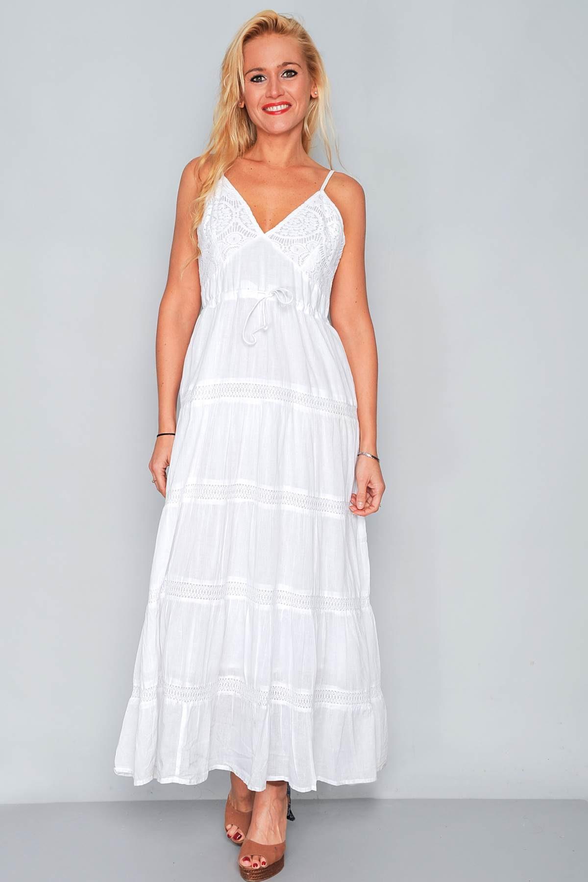 huge discount e8915 e0746 Abito lungo bianco in cotone - FRANK LISITANO Store