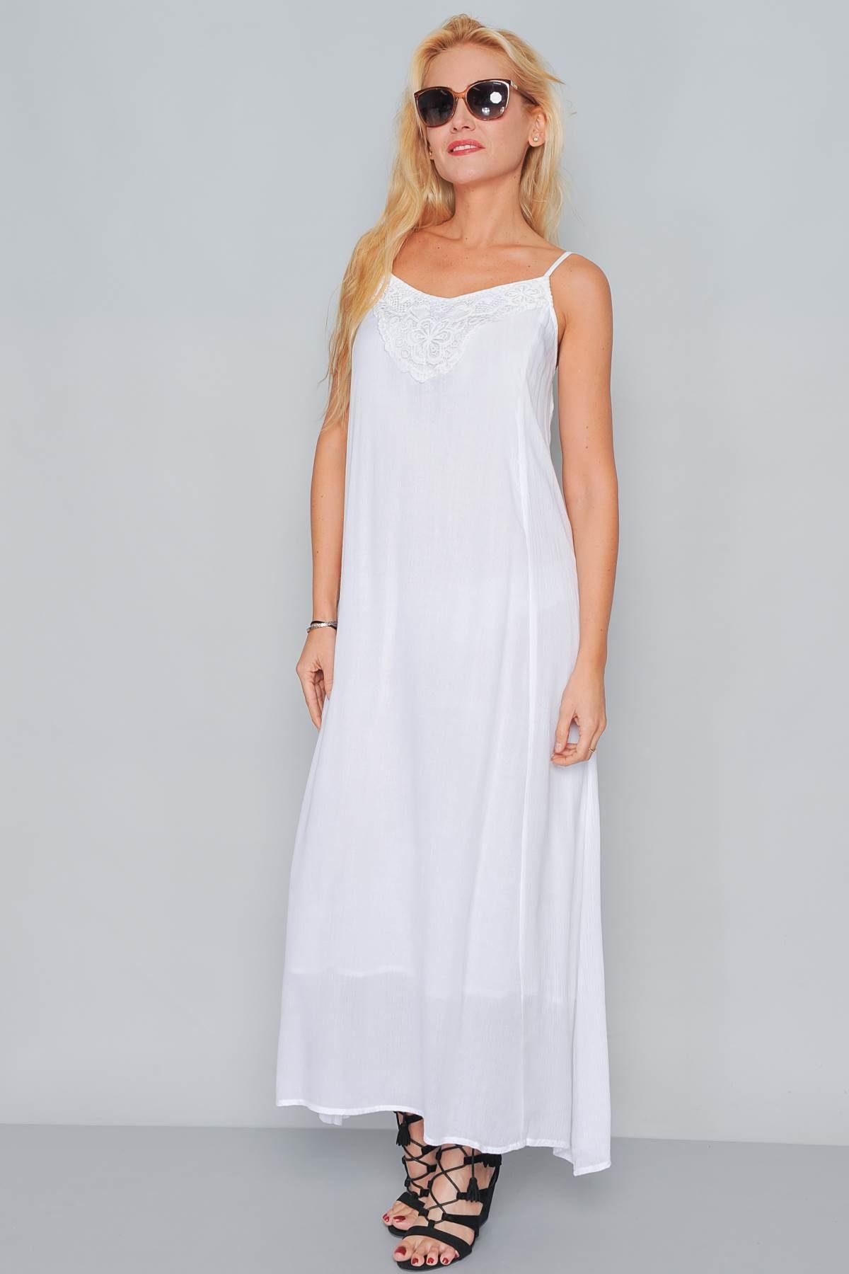 9f5ae1677 Abito lungo bianco in cotone - FRANK LISITANO Store